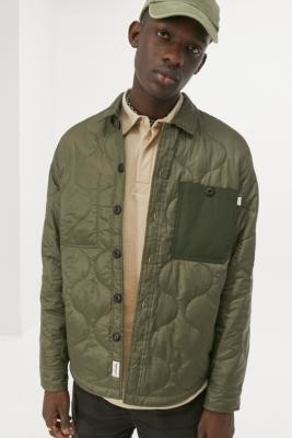 Timberland Mixed Media Green Jacket - Green S at Urban Outfitters