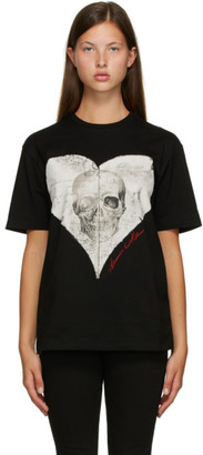 Alexander McQueen Black Love Notes Skull T-Shirt