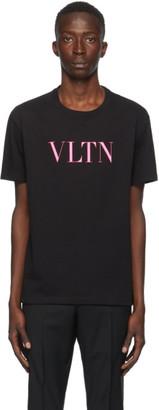 Valentino Black and Pink VLTN T-Shirt
