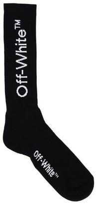 Off-White Logo Print Mid-Length Socks