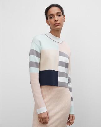 Club Monaco Geo Mix Mockneck Sweater