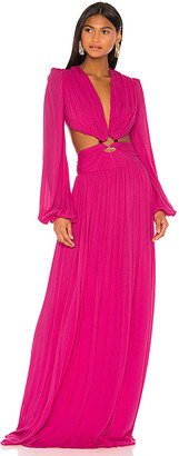 PatBO Neon Cutout Gown