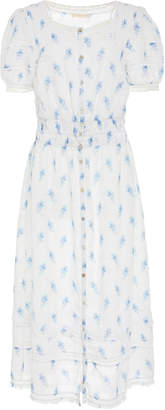 LoveShackFancy Sandy Floral-Print Cotton Dress