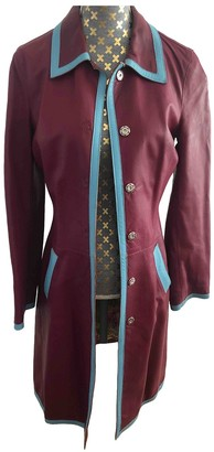 Dolce & Gabbana Purple Leather Coat for Women