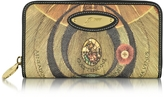 Gattinoni Planetarium Coated Canvas Zip Around Women's Wallet