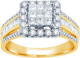 JCPenney MODERN BRIDE 1 CT. T.W. Diamond 10K Yellow Gold Engagement Ring