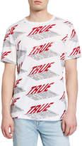 True Religion Men's Allover Logo Print T-Shirt
