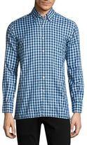 Canali Check Printed Button-Down Shirt