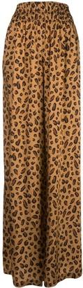 Rosetta Getty Oversized Leopard Print Trousers