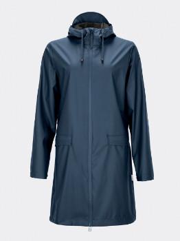 Rains Blue 1246 W Coat Women's Rain Jacket - S/M | blue - Blue/Blue