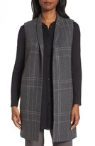 Eileen Fisher Women's Long Plaid Vest