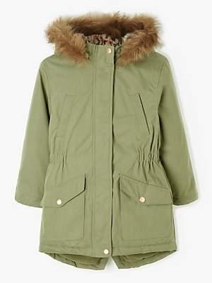 John Lewis & Partners Girls' Parka Coat, Khaki