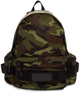 Juun.J Khaki Camo Nylon Backpack