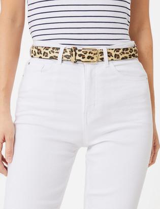 Marks and Spencer Leather Leopard Print Jean Belt