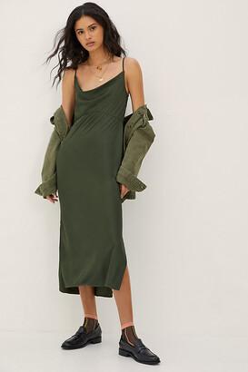 Anthropologie Bias Slip Dress By in Green Size XL