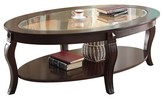 ACME Furniture Riley Coffee Table Walnut and Glass Top - ACME