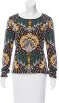 Suno Floral Patterned Knit Sweater