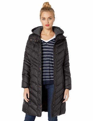 Andrew Marc Women's Odessa Slim Long Synthetic Down Jacket