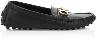 Salvatore Ferragamo Berra Leather Driver Loafers