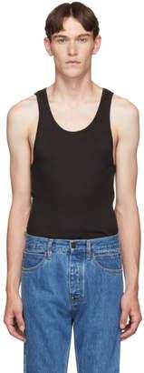 Calvin Klein Underwear Three-Pack Black Ribbed Tank Top