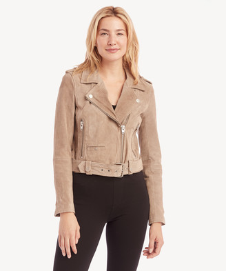 Blank NYC BlankNYC Women's In Color: Sand Stoner Moto Jacket Size XS Genuine Leather From Sole Society