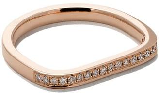 As 29 18kt rose gold Mini Charm Pinky diamond Ring
