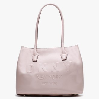 DKNY Hutton Pink Leather Tote Bag