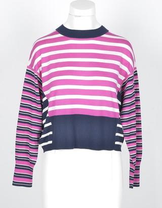 Max Mara Fuchsia Silk and Cotton Blend Women's Sweater