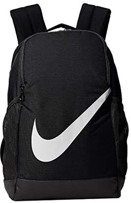 Nike Kids Brasilia Backpack (Little Kids/Big Kids) (Black/Black/White) Backpack Bags