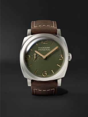 Panerai Radiomir Automatic 45mm Stainless Steel and Leather Watch, Ref. No. PAM00995 - Men - Green