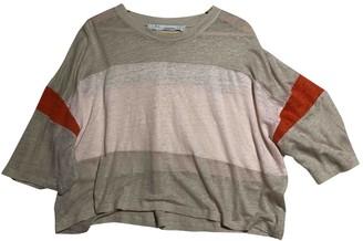 IRO Beige Linen Top for Women