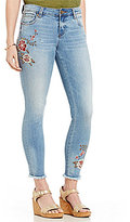KUT from the Kloth Connie Floral Embroidered Ankle Skinny Jeans