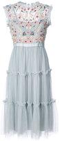 Needle & Thread embroidered dress - women - Nylon/Polyester - 2