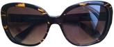 Balmain Brown Plastic Sunglasses