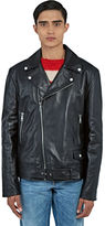 Gucci Men's Leather Biker Jacket In Black