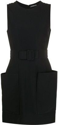 Alexander McQueen Belted-Waist Shift Dress