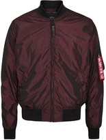 Alpha Industries Ma-1 Metallic Burgundy Shell Bomber Jacket