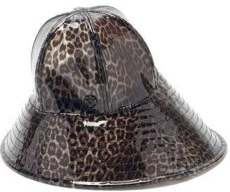 Maison Michel Julianne Leopard-print Pvc Bucket Hat - Leopard