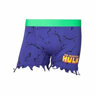 Marvel Comics Men's Incredible Hulk Novelty Ripped Boxer Shorts Underwear