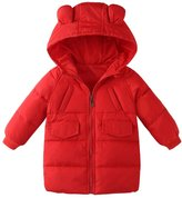 "OCHENTA Little Boys' Girls' Warm Cartoon Hooded Packable Lightweight Puffer Jacket 90CM(35.4"") - 24M"