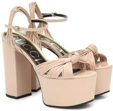 Gucci Crawford leather platform sandals