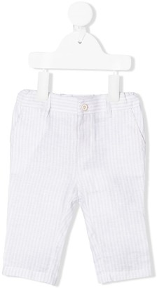 Emporio Armani Kids Striped Fitted Trousers