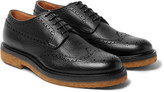 Dries Van Noten - Pebble-grain Leather Wingtip Brogues
