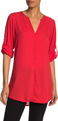19 Cooper Split Neck Tunic Shirt Dress