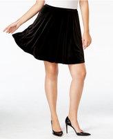 Soprano Trendy Plus Size Velvet A-Line Skirt