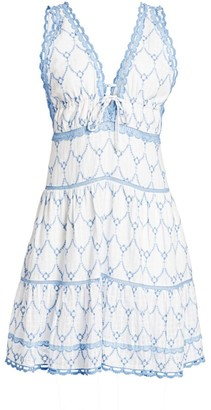 Jonathan Simkhai Cotton Embroidered Dress