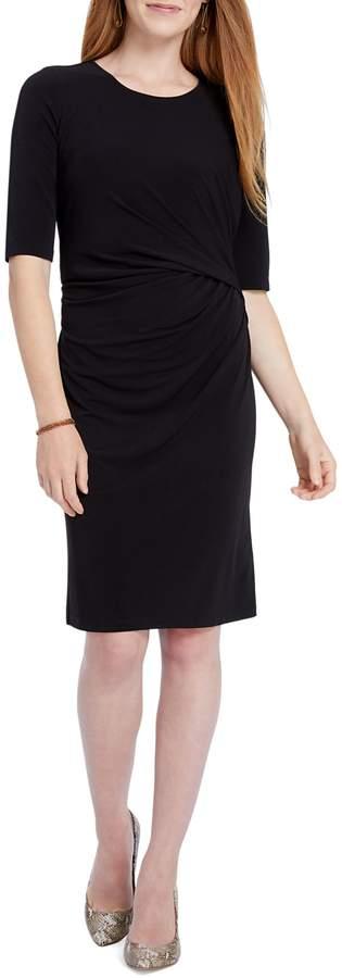 Nic+Zoe Side Drape Knee-Length Dress