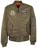 Ralph Lauren Military Patch Bomber Jacket
