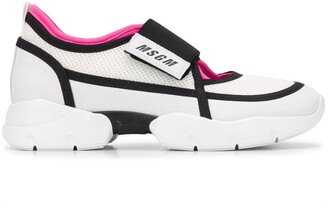 MSGM Mesh Panel Cut-Out Detail Sneakers