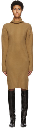 DRAE SSENSE Exclusive Tan High Neck Dress